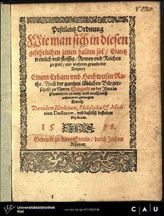Pestilenzordnung  für Stargardt, Stettin 1598
