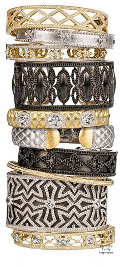 Jude Frances bracelets, bangles and cuffs ~ diamonds, white sapphires,18kt gold   Purely Inspiration