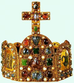 The crown of Charlemagne, crowned the first Holy Roman Emperor in 800.