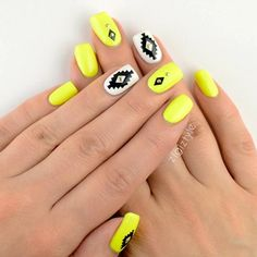 Neon nails are a quick way to add a dash of color to your daily look!
