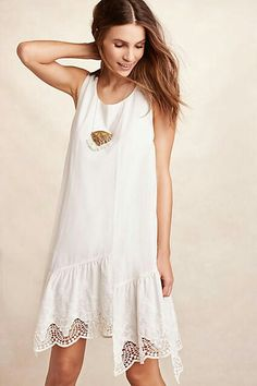 Broderie swing dress Anthropologie