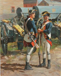 The Royal Artillery ( a Sergeant and a Matross) in 1775.