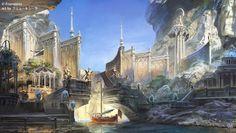 Media preview #FantasyLandscape Fantasy concept art Fantasy city Fantasy art landscapes