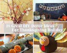 It's getting close to Thanksgiving! Amaze your guests with these 28 Great DIY Decor Ideas For The Best Thanksgiving Holiday via woohome Thanksgiving Home Decorations, Thanksgiving Diy, Preschool Crafts, Crafts For Kids, Holiday Wreaths, Holiday Decor, Holiday Ideas, Fall Crafts, Fall Halloween