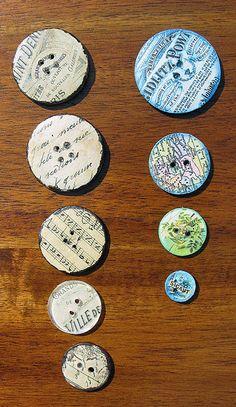 The Graphics Fairy - Crafts: Ephemera Art Buttons