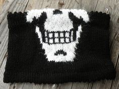 Skull-kerchief made into a cowl