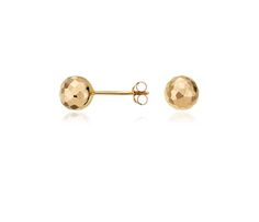 These yellow gold studs prove less is more, $95.