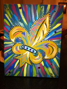 Colors & Bling Fleur De Lis- Peace Of Art by MelKay (I take orders!)