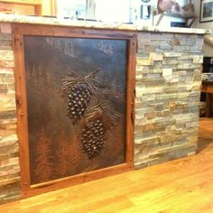 Beautifully sculpted panels for side of island or bar. #rusticliving #rustichomes #cabinlife #westerndecor #rustickitchens #farmhouses