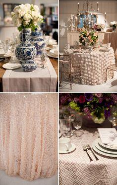 Neutral new linens from La Tavola that are not boring! Phoenix Bride and Groom, @L a Tavola Fine Linen #receptiondecor #wedding #linens #cream