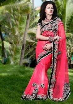 Heavy work gorgeous #partywear and #wedding latest Indian #saree shop online at #craftshopsindia