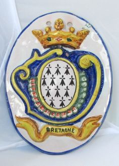 From HB (only) 19th century oval embossed blason from Quimper. Hand painted French faience. Photo courtesy of countryfrenchpottery.com. Join our mailing list!