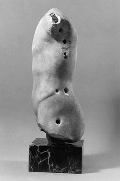 Left side Torso 399-300 B.C. Marble, Greek.