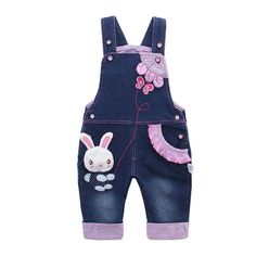 online shopping for Kidscool Baby & Little Girls Rabbit Casual Soft Denim Overalls Jeans from top store. See new offer for Kidscool Baby & Little Girls Rabbit Casual Soft Denim Overalls Jeans Cute Overalls, Denim Overalls, Denim Outfit, Denim Pants, Denim Jumper, Jeans Jumpsuit, Little Baby Girl, Baby Kind, Baby Girls