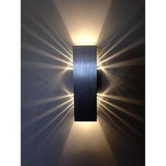 Applique murale  2 x 3 W Blanc Chaud Lampe murale Lampe LED Effet pour Chambre Couloir Salon [Classe énergétique A+]