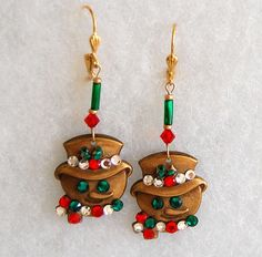 Christmas Snowman Earrings by JewelryJeanne on Etsy, $12.00