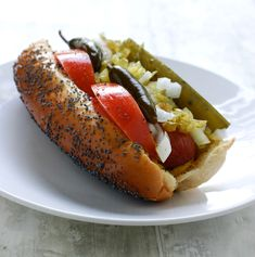 chicago style hotdogs.  i have no idea why but i love hot dogs. i'm not to the point of being this adventurous with them yet but for the day that i am, i will try this.