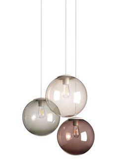 Spheremaker Pendant - Set of 3 Mole, Grey, Brown. Option for bedroom ceiling