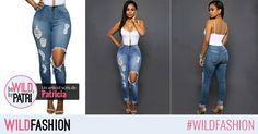 Adorati blugii? Pentru un look casual, alegeti un model de skinny jeans destroyed, ca acesta:
