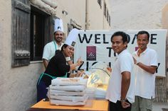 We serve with a warm smile! Even managers worked to serve every downline host