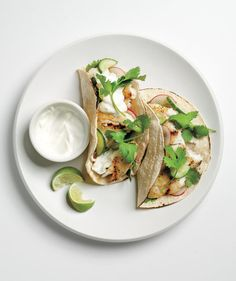 Perfect for kids or the less-than-adventurous eater, the texture and taste of white fish, like tilapia or halibut, is a good foray into a deeper appreciation for seafood. Here, the fish is seasoned, grilled, and then paired with a crunchy marinated cucumber and radish mixture.