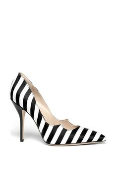 Paul Andrew 'Zenadia' Stripe Silk Pointy Toe Pump available at #Nordstrom.......Z....E....B....R....A
