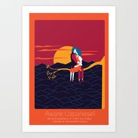 Art Print featuring Found In Translation - Aware by Anjana Iyer