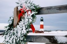 Sankaty Head Lighthouse Wreath (CH)