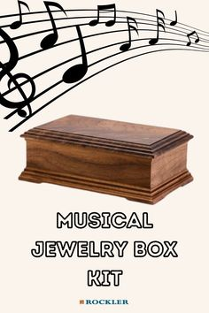 The perfect kit for the musical member of your family! Build the perfect gift using our Jewelry Box kit today.  #createwithconfidence #jewelrybox #rockler #box #jewelryboxkit Woodworking Plans, Beginner Woodworking Projects, Woodworking Crafts, Woodworking Tools, Christmas Gifts 2016, Musical Jewelry Box, Daughter Birthday, Daughter Of God, Wood Working For Beginners
