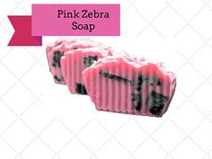 #PinkZebraSoap is made by goat milk and the pink is made from shea butter and coconut oil. Buy online today.