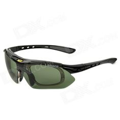 LAMBDA LS668 Outdoor Cycling UV400 Protection Sunglasses w/ Replacement Lens - Black Price: $31.99