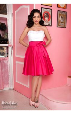 Pinup Couture - Audrey Skirt in Pink by Pinup Couture | Pinup Girl Clothing