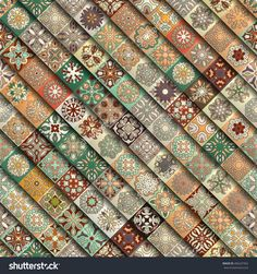 Colorful Vintage Seamless Pattern With Floral And Mandala Elements.Hand Drawn Background. Can Be Used For Fabric, Wallpaper, Tile, Wrapping, Covers And Carpet. Islam, Arabic, Indian, Ottoman Motifs. Стоковая векторная иллюстрация 496247962 : Shutterstock