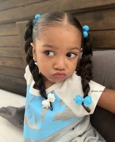 Cute Mixed Babies, Cute Black Babies, Black Baby Girls, Beautiful Black Babies, Girls Natural Hairstyles, Kids Braided Hairstyles, Black Baby Girl Hairstyles, Toddler Hairstyles, Cute Kids Fashion