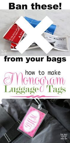 Trav'lin In Style: Monogramed Luggage Tags - In My Own Style