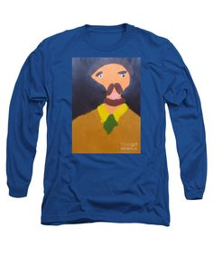 Patrick Francis Designer Royal Blue Long Sleeve T-Shirt featuring the painting Portrait Of Eugene Boch - After Vincent Van Gogh by Patrick Francis