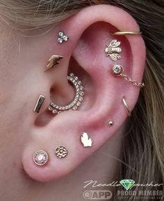 New piercing tragus ear forward helix 38 ideas Smiley Piercing, Daith Piercing, Piercing Tattoo, Ear Piercings Cartilage, Ear Peircings, Cute Ear Piercings, Body Piercings, Ear Gauges, Multiple Ear Piercings