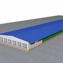 Steel Poultry House, Steel Poultry House direct from Shijiazhuang Sanhe Steel Structure Co. in China (Mainland) Poultry Farming, Livestock Farming, Poultry Business, Layer Chicken, Poultry House, Steel Structure, Quail, Agriculture, Farms