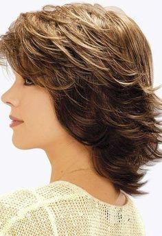 Short Shag Hairstyles for Women Over 50 Back Veiws - Bing images Short Shag Hairstyles, Mom Hairstyles, Feathered Hairstyles, Straight Hairstyles, Medium Layered Hairstyles, Medium Hair Cuts, Short Hair Cuts, Medium Hair Styles, Curly Hair Styles