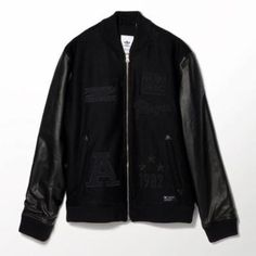 adidas Run Bomber Jacket L Black #bomberjacket #adidas #offduty #covetme