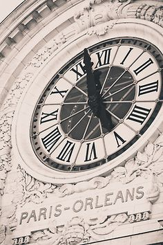 Clock in Paris .At Musée d'Orsay, Left Bank - home of the Impressionists.