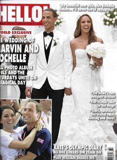 Hello magazine Marvin Humes Rochelle Wiseman wedding George Michael Fan Bingbing