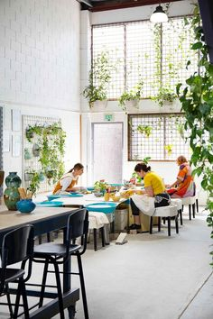 The Ceramic House, a studio, store, workshop and cafe with walls of greenery. Ceramic Cafe, Ceramic Store, Ceramic Studio, Pottery Cafe, Pottery Store, Pottery Studio, Craft Stall Display, Best Boutique Hotels, Craft Stalls