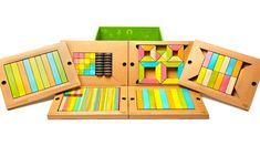 This 130-piece Classroom Kit Magnetic Wooden Blocks by Tegu is amazing!! Our child filled house wouldn't be able to fight over this many! #TeguElf