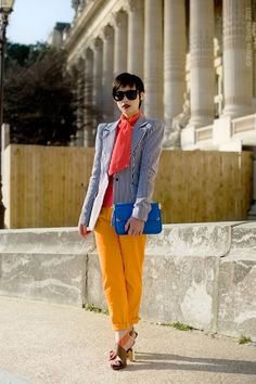 Street Style Aesthetic » Blog Archive » Paris – Colour Commentator