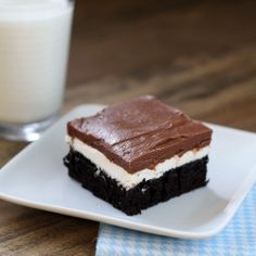 Ho Ho Cake--layers of chocolate cake, dreamy cream filling, and chocolate icing