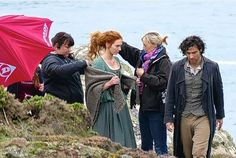 Poldark mania! Beverley actress Eleanor Tomlinson wows fans filming with co-star Aidan Turner