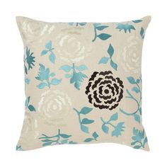 I pinned this Wallflower Pillow in Ocean from the emma at home event at Joss and Main!