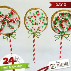 Christmas Cookie Pops | Meals.com - Get the kids in the holiday spirit with Christmas cookies on a stick! They'll love decorating these fun pops. #simplycelebrate