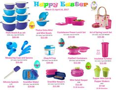 Tupperware sale closes Friday, April 14. Contact me to order today! Available direct from my website also:  http://beckysherbundy.my.tupperware.com